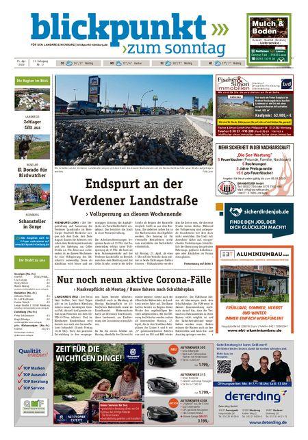 Blickpunkt Nienburg am Sonntag vom 25.04.2020