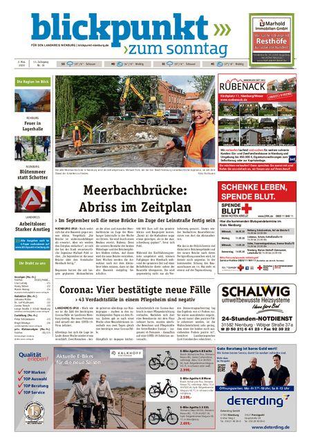 Blickpunkt Nienburg am Sonntag vom 02.05.2020