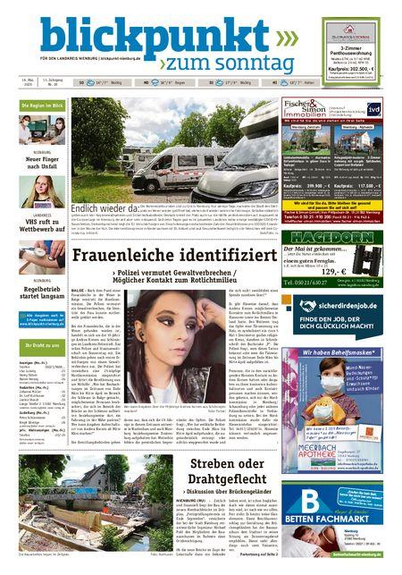 Blickpunkt Nienburg am Sonntag vom 16.05.2020