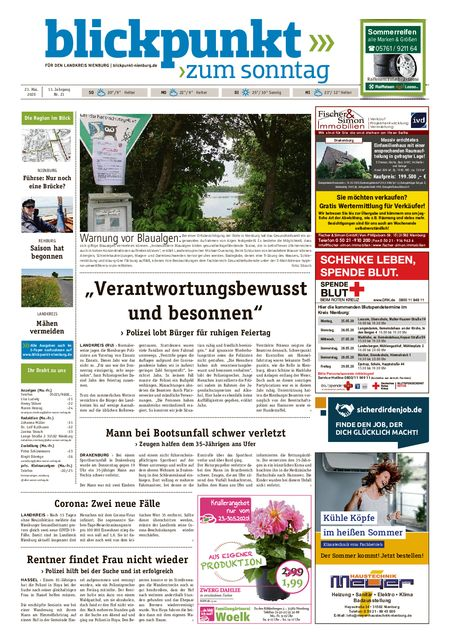 Blickpunkt Nienburg am Sonntag vom 23.05.2020