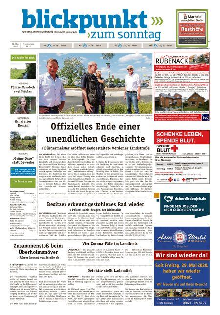 Blickpunkt Nienburg am Sonntag vom 30.05.2020