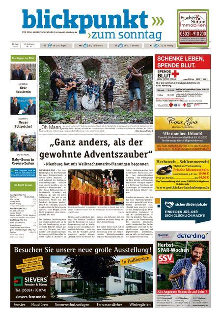 Blickpunkt Nienburg am Sonntag vom 26.09.2020