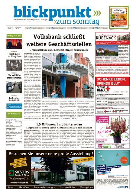 Blickpunkt Nienburg am Sonntag vom 10.10.2020