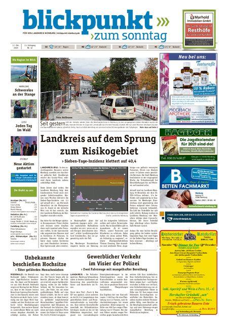 Blickpunkt Nienburg am Sonntag vom 17.10.2020