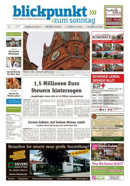 Blickpunkt Nienburg am Sonntag vom 24.10.2020