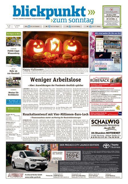 Blickpunkt Nienburg am Sonntag vom 30.10.2020