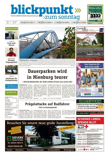 Blickpunkt Nienburg am Sonntag vom 07.11.2020