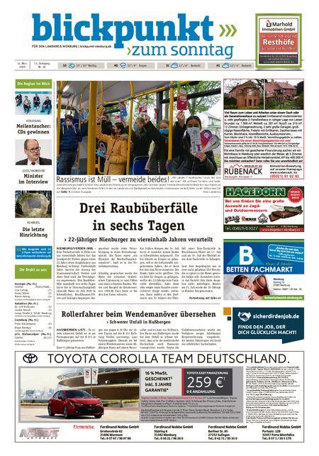 Blickpunkt Nienburg am Sonntag vom 14.11.2020