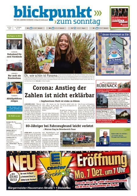 Blickpunkt Nienburg am Sonntag vom 28.11.2020