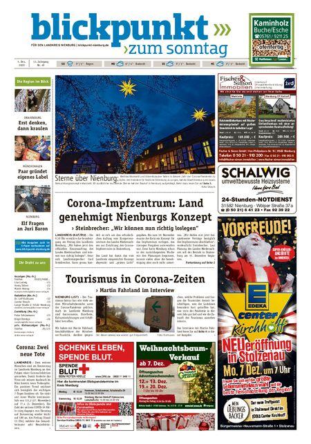 Blickpunkt Nienburg am Sonntag vom 05.12.2020