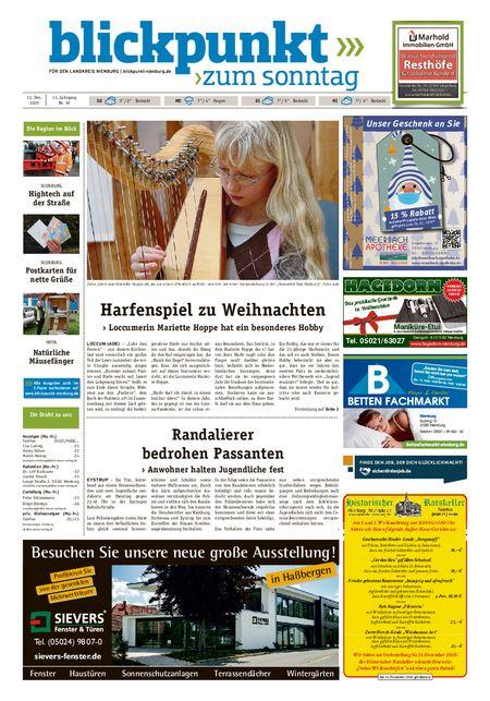 Blickpunkt Nienburg am Sonntag vom 12.12.2020