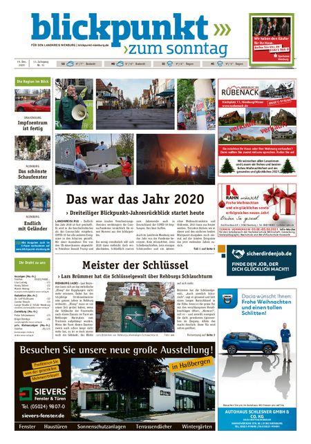 Blickpunkt Nienburg am Sonntag vom 19.12.2020