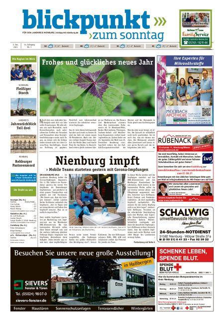 Blickpunkt Nienburg am Sonntag vom 02.01.2021