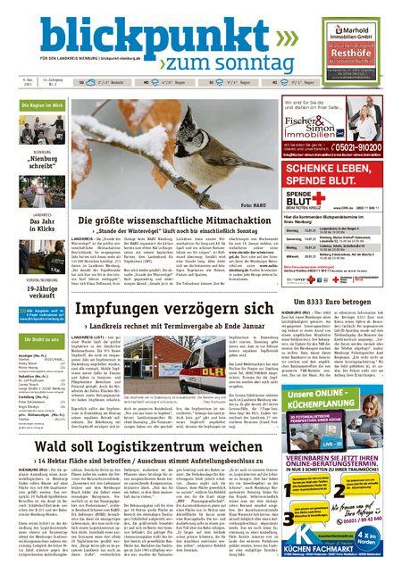 Blickpunkt Nienburg am Sonntag vom 09.01.2021