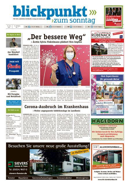 Blickpunkt Nienburg am Sonntag vom 16.01.2021