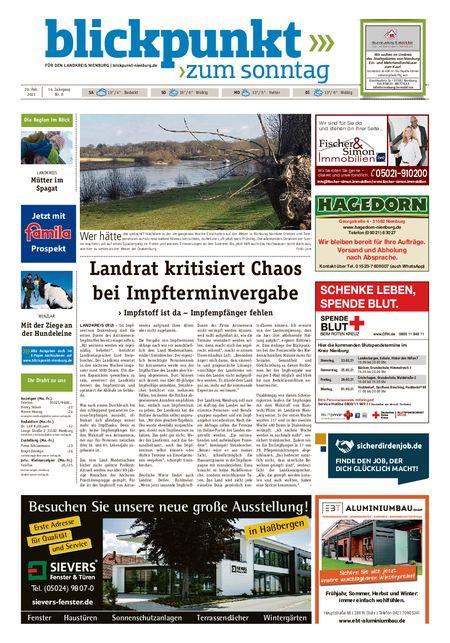 Blickpunkt Nienburg am Sonntag vom 20.02.2021