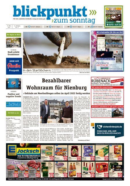 Blickpunkt Nienburg am Sonntag vom 27.03.2021