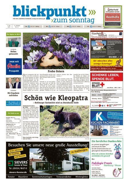 Blickpunkt Nienburg am Sonntag vom 03.04.2021