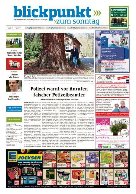 Blickpunkt Nienburg am Sonntag vom 24.04.2021