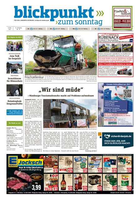 Blickpunkt Nienburg am Sonntag vom 08.05.2021