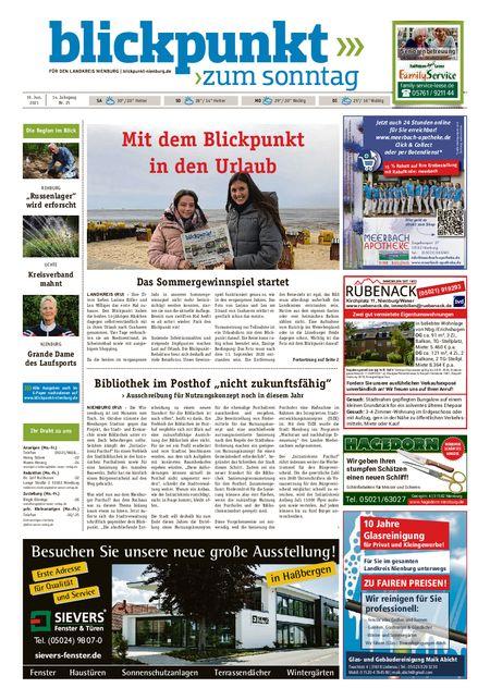 Blickpunkt Nienburg am Sonntag vom 19.06.2021