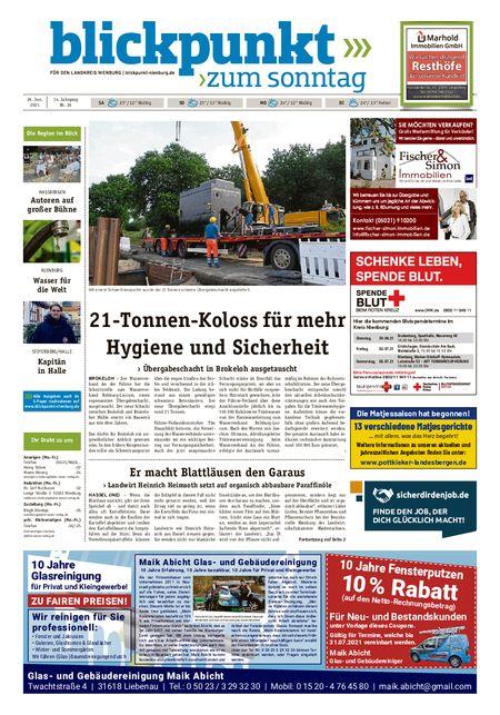 Blickpunkt Nienburg am Sonntag vom 26.06.2021