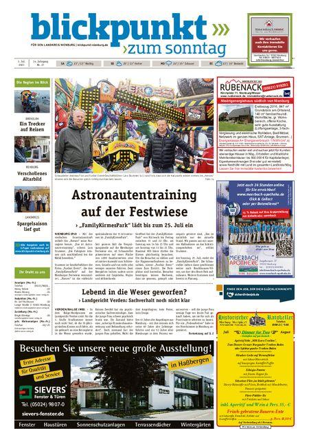 Blickpunkt Nienburg am Sonntag vom 03.07.2021