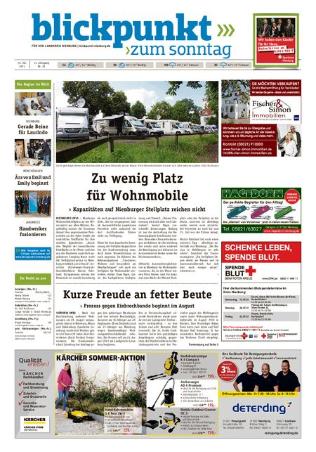 Blickpunkt Nienburg am Sonntag vom 10.07.2021