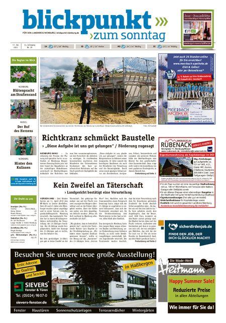 Blickpunkt Nienburg am Sonntag vom 17.07.2021