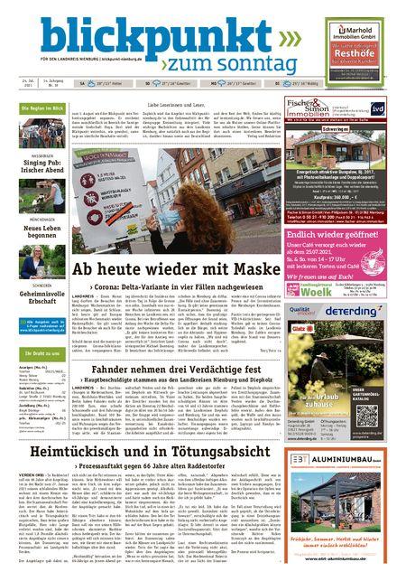 Blickpunkt Nienburg am Sonntag vom 24.07.2021