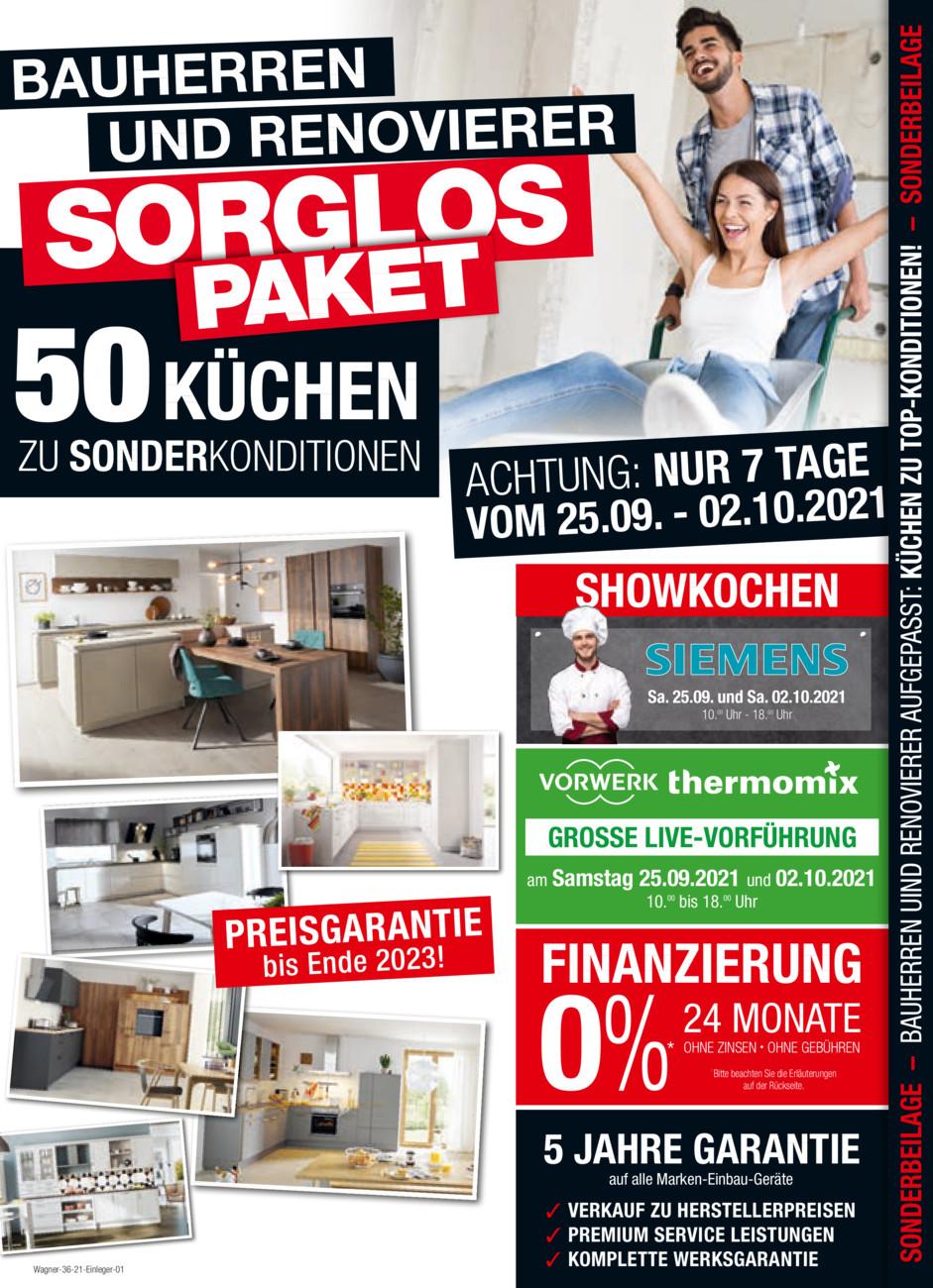 Wagner Wohnen vom Samstag, 18.09.2021